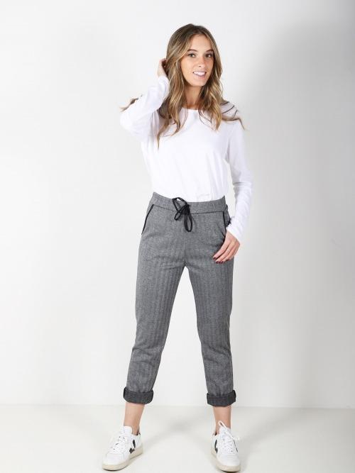 Pantalon bolsillos trendy brillo mujer