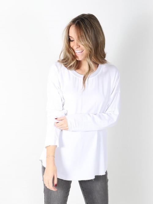 Camisa fluida cuello canale mujer