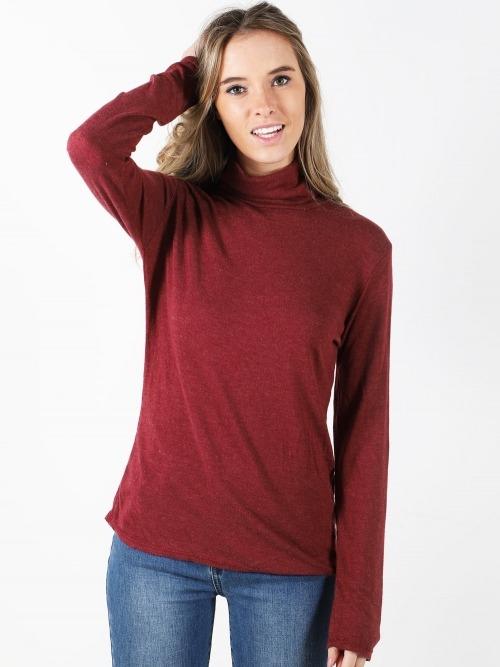 Jersey cuello alto soft mujer