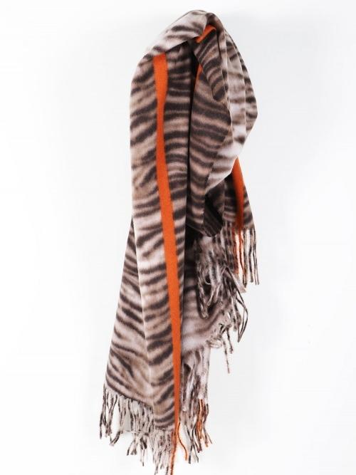 Bufanda estampado cebra mujer