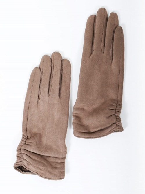 Guantes suede mujer