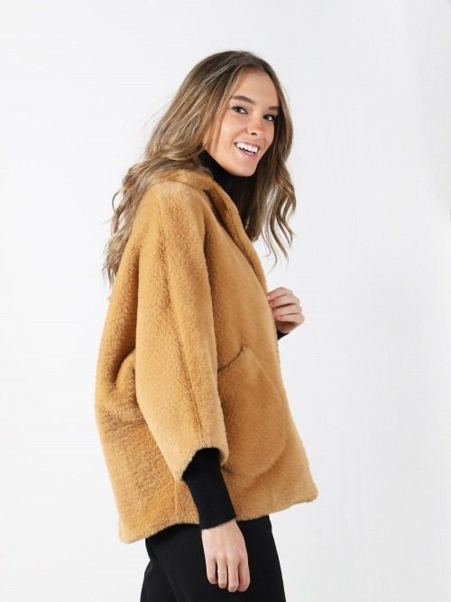 Abrigo rizo trendy mujer