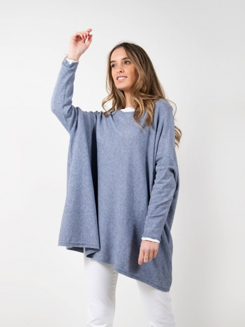 Jersey punto oversize mujer