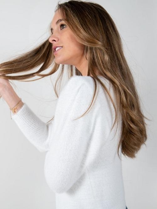 Jersey punto trendy pelo mujer