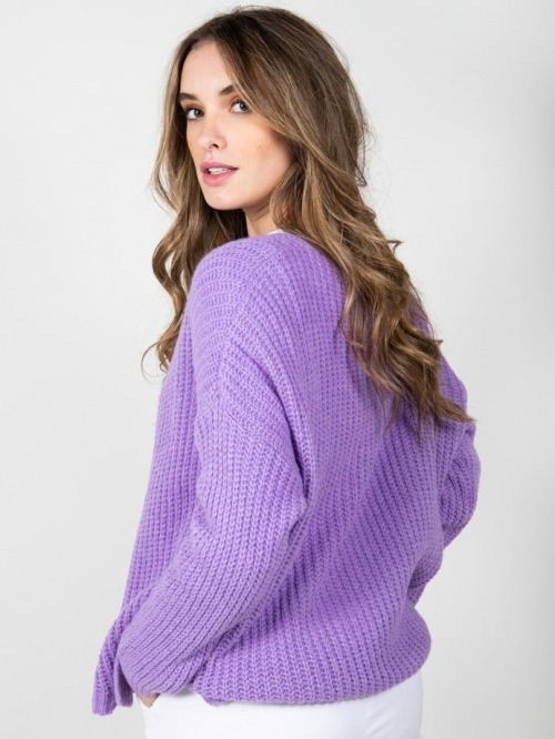 Oversize wool sweater Violet