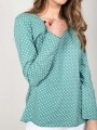 Polka dot cotton t-shirt Aqua