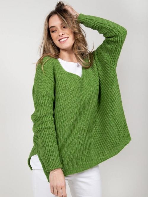 Oversize wool sweater Green