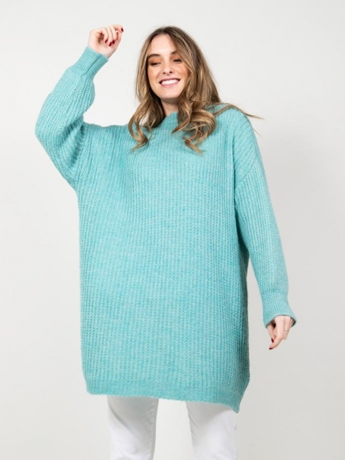 Mohair dress Turquoise