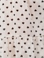 Fluid Print Dress White y negro