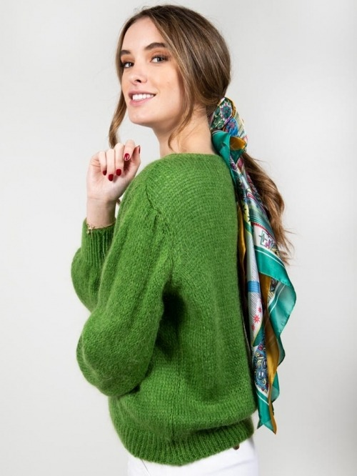 Jersey lana mujer Verde