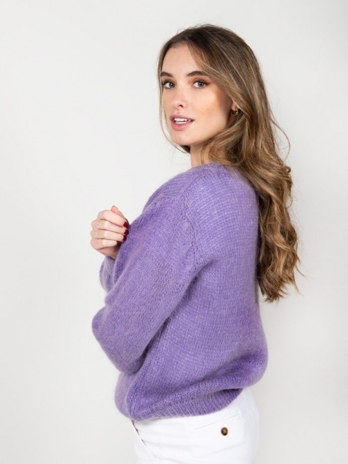 Jersey lana mujer Violeta
