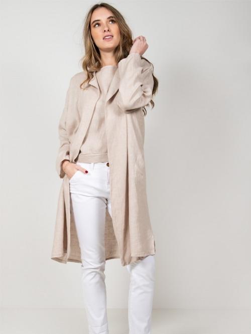 Oversize linen jacket Beige
