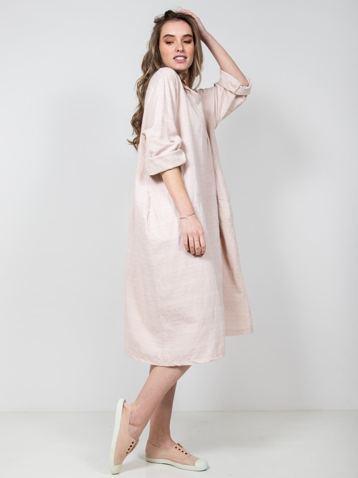 Oversized cotton dress Pink
