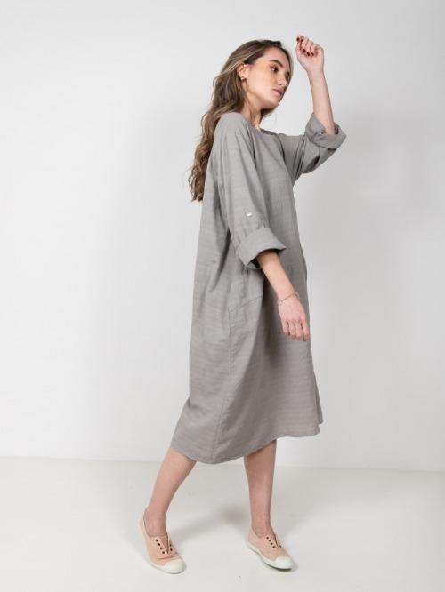 Oversized cotton dress Grey