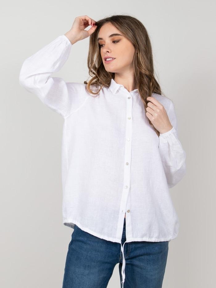Camisa roser lino mujer Blanco