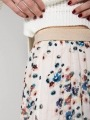 Polka dot print pleated long skirt Crudo