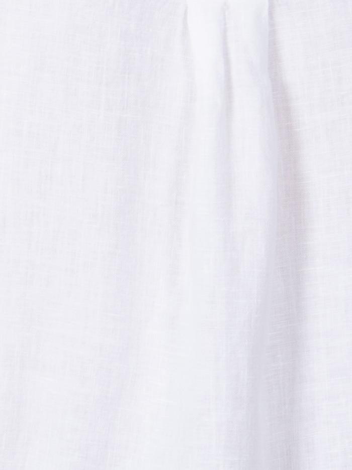 Woman Linen shirt with belt White