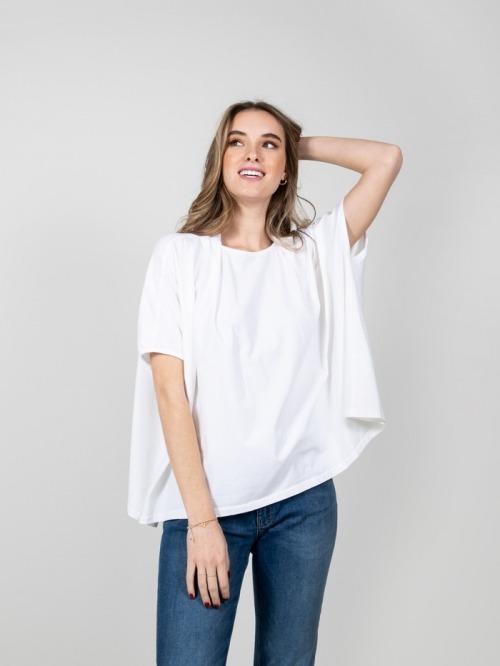 Camiseta felpa algodón Blanco