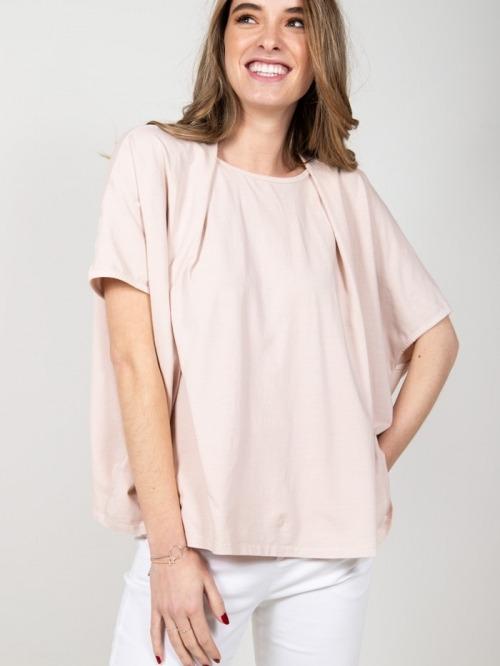Camiseta felpa algodón Rosa