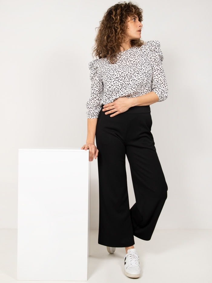 Palm pants with pockets Black