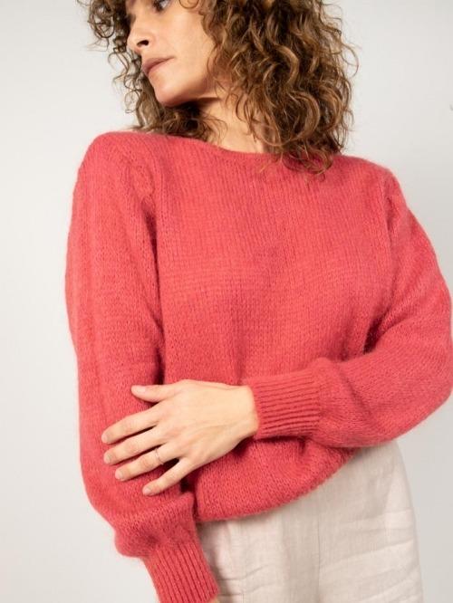 Jersey lana mujer Rojo