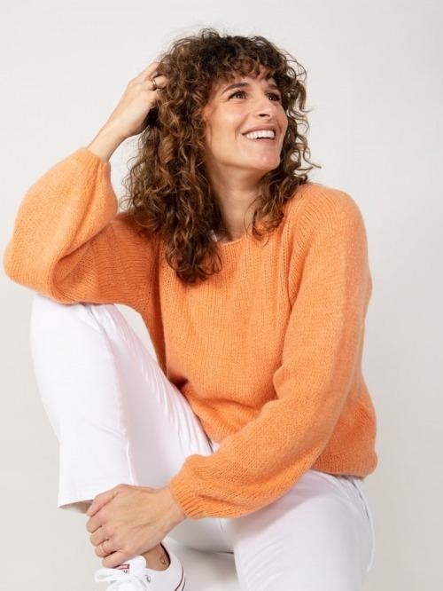 Wool sweater Orange