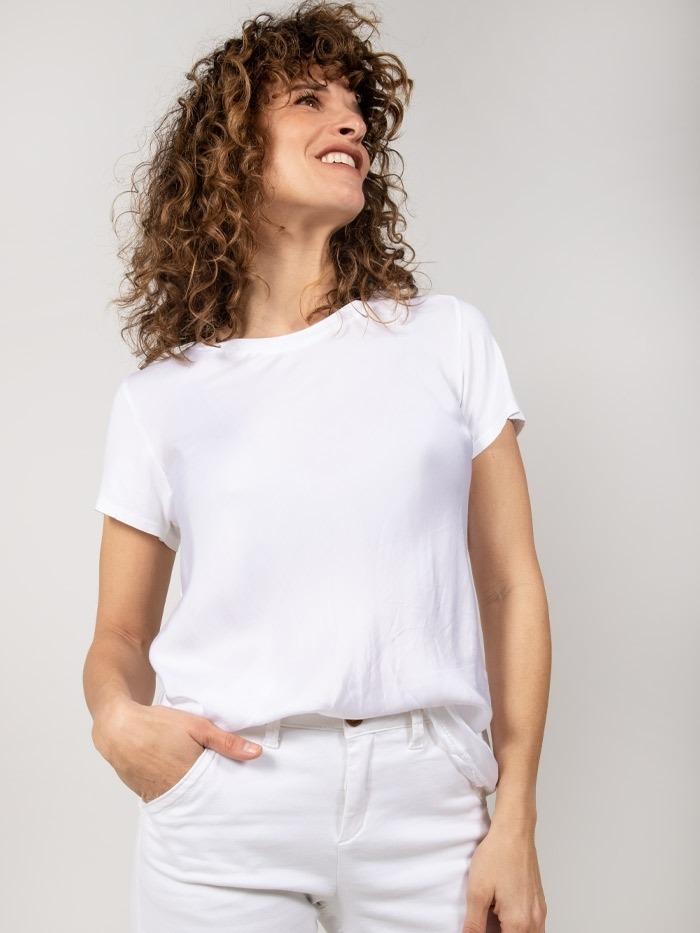 Satin t-shirt White