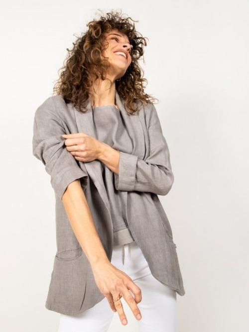 Linen blazer Grey
