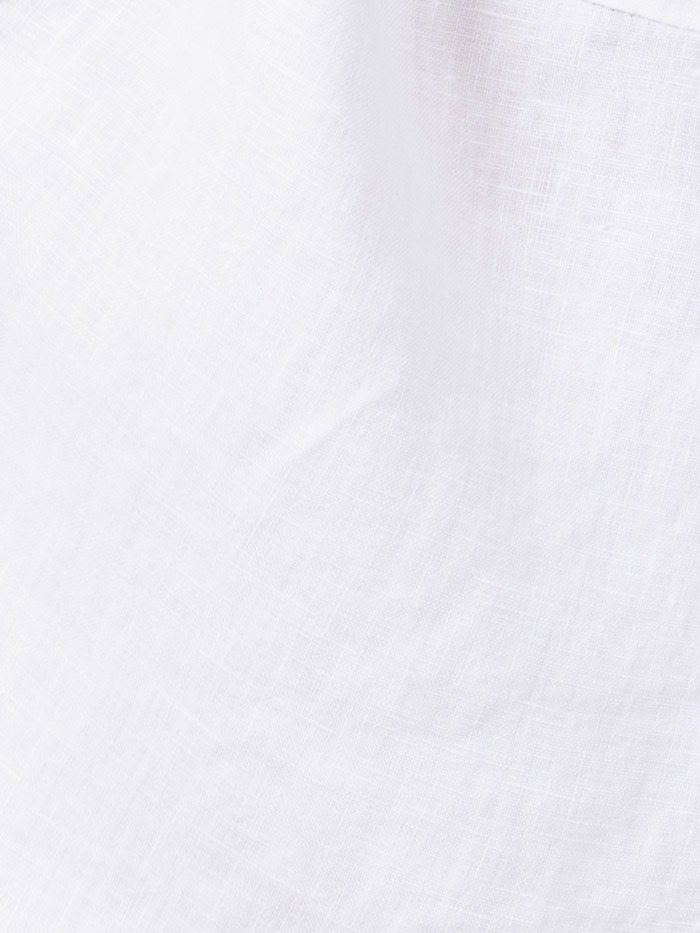 Woman Linen shirt with pockets White