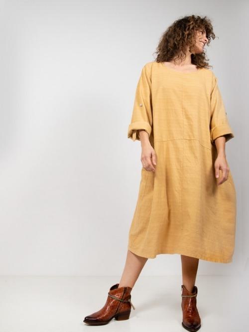 Women oversized cotton dress Honey