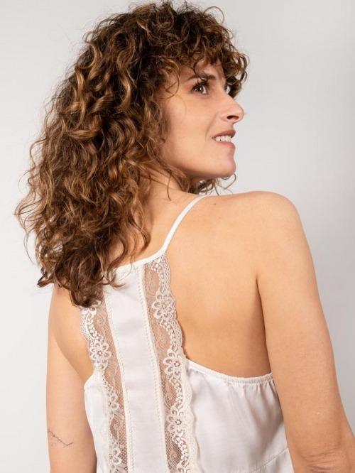 Eco lace lingerie top Beige