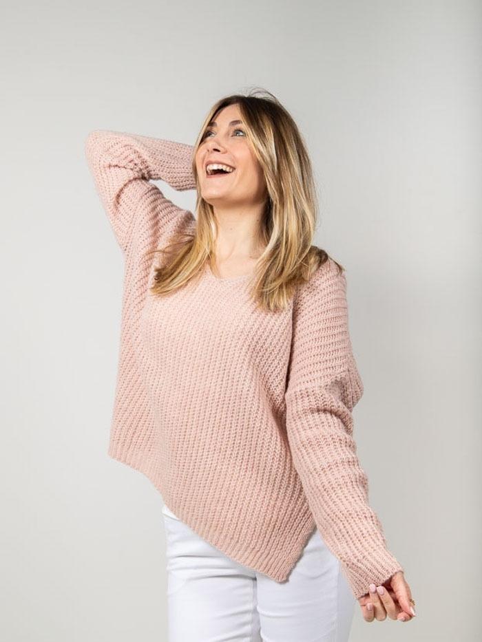 Oversize wool sweater Pink