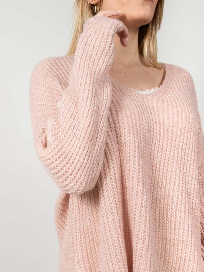Woman Oversize wool sweater Pink