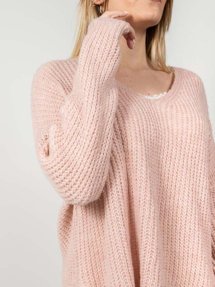 Woman Woman Oversize wool sweater Pink