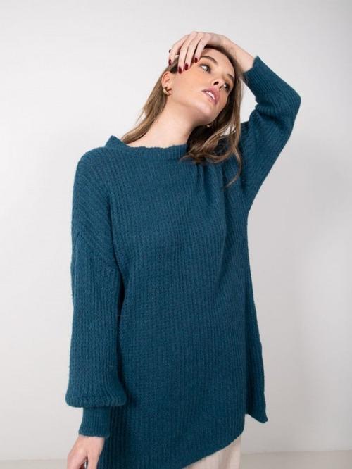 Mohair knit dress Blue