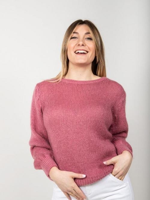 Jersey lana mujer Rosa