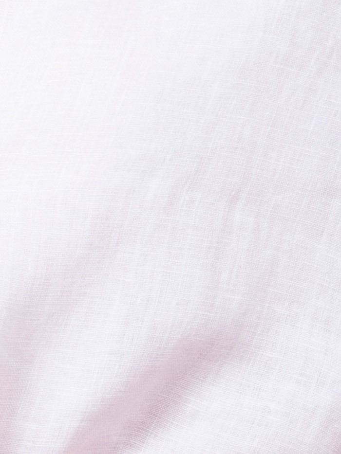 Woman Linen shirt elbow sleeve White