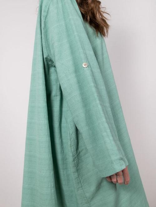 Oversized cotton dress Verde