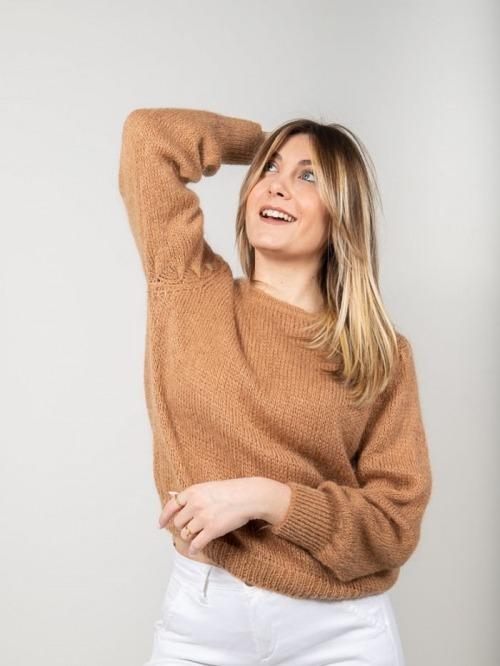 Jersey lana mujer Camel