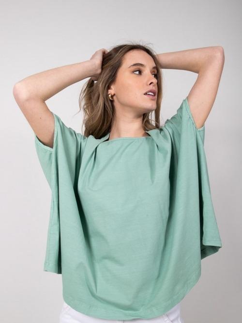 Camiseta felpa algodón Verde