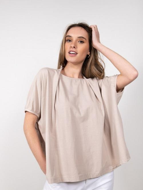 Camiseta felpa algodón Beige