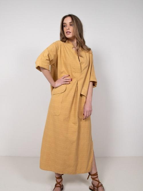 Long cotton shirt dress Honey