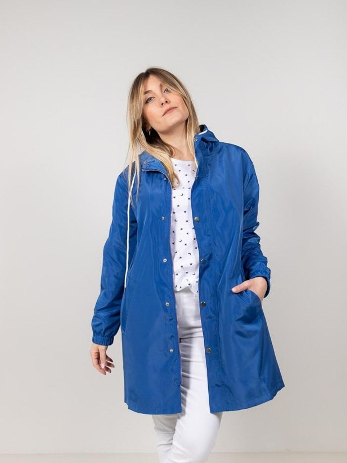 Lightweight waterproof trench coat Blue