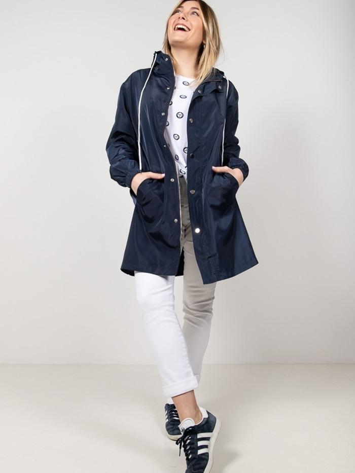 Lightweight waterproof trench coat Blue Navy