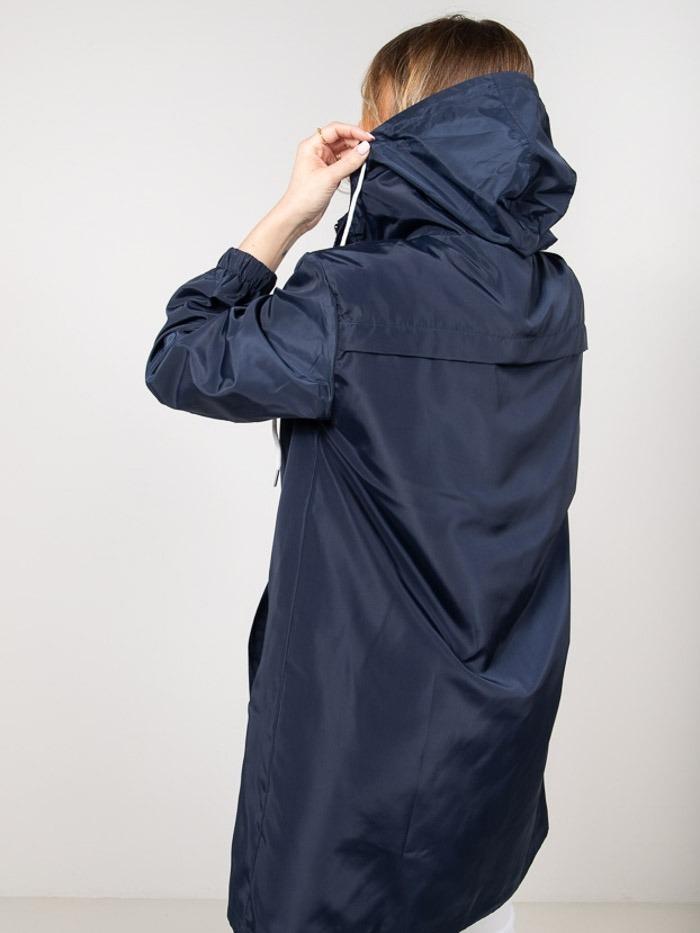 Woman Woman Lightweight waterproof trench coat Blue Navy