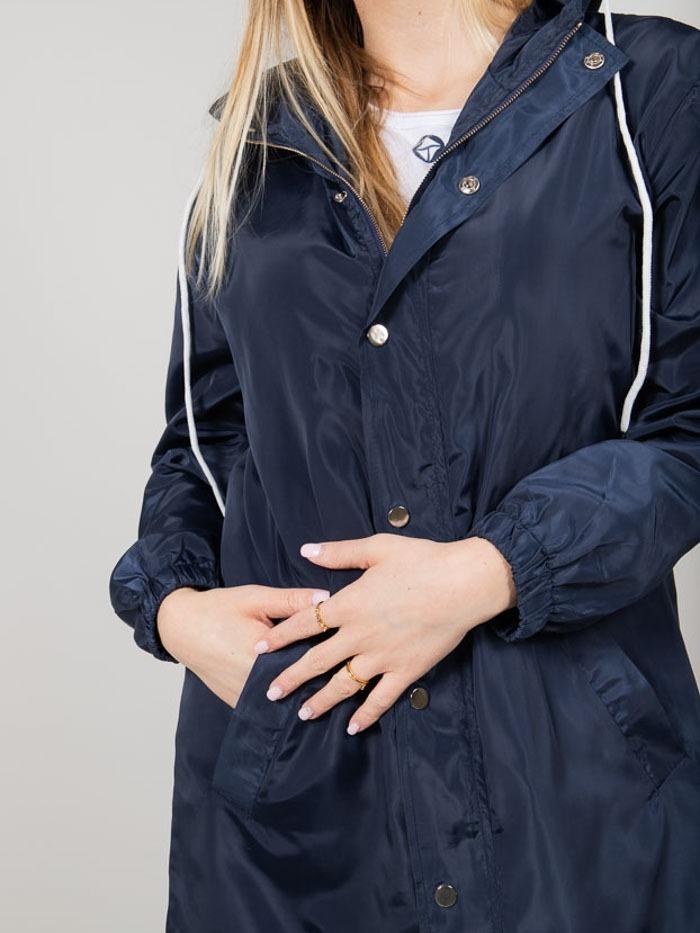 Gabardina mujer impermeable ligera Azul Marino