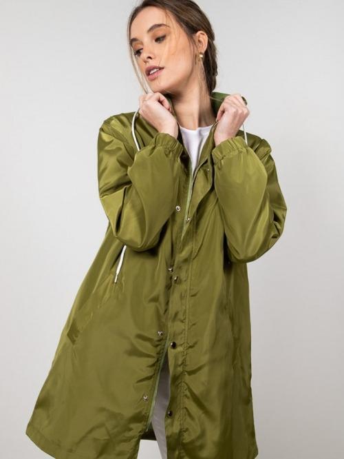 Lightweight waterproof trench coat Green