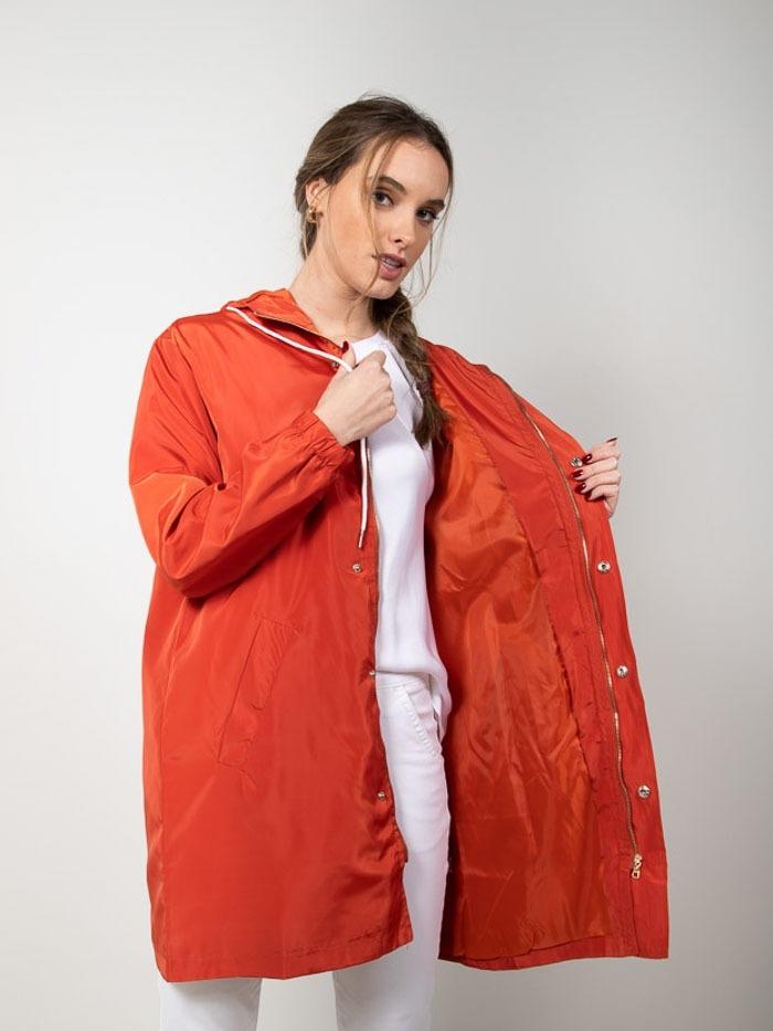 Woman Lightweight waterproof trench coat Red