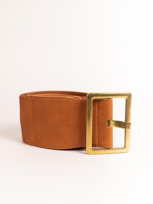 Cinturón maxi elástico mujer Camel