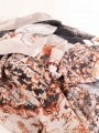 Maxi floral print scarf Beige